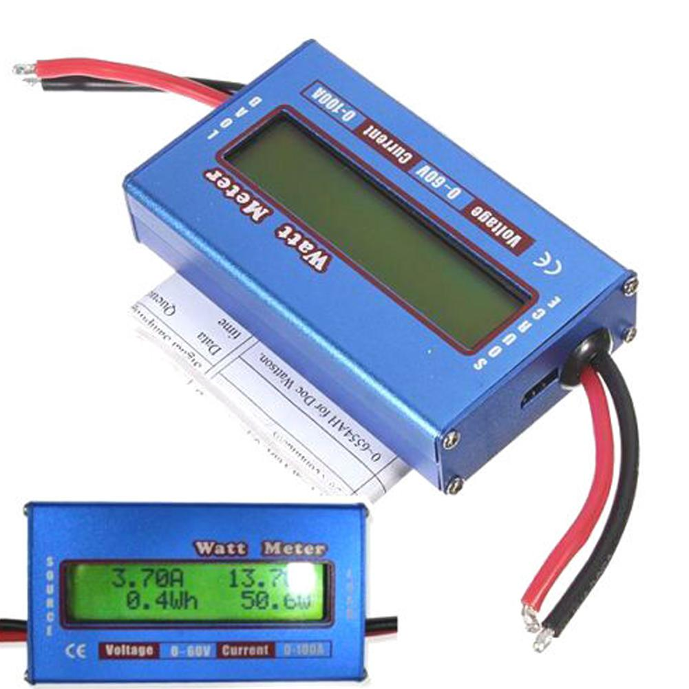 100A 60V DC Digital Wattmeter Watt Meter Power Meter Balance Voltage Battery Checker