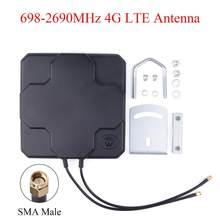 Antenne externe 4G LTE 18dBi à Gain élevé 698-2690MHz double SMA mâle pour routeur sans fil amplificateur de répéteur de Signal