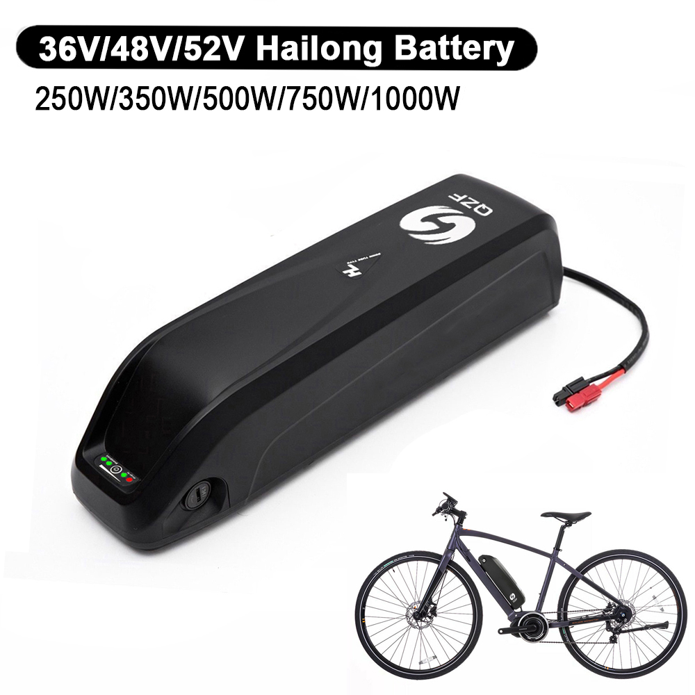 36V//48V//52V Lithium ion Pack E-Bike Battery with USB BMS for 250W~1000W Motors