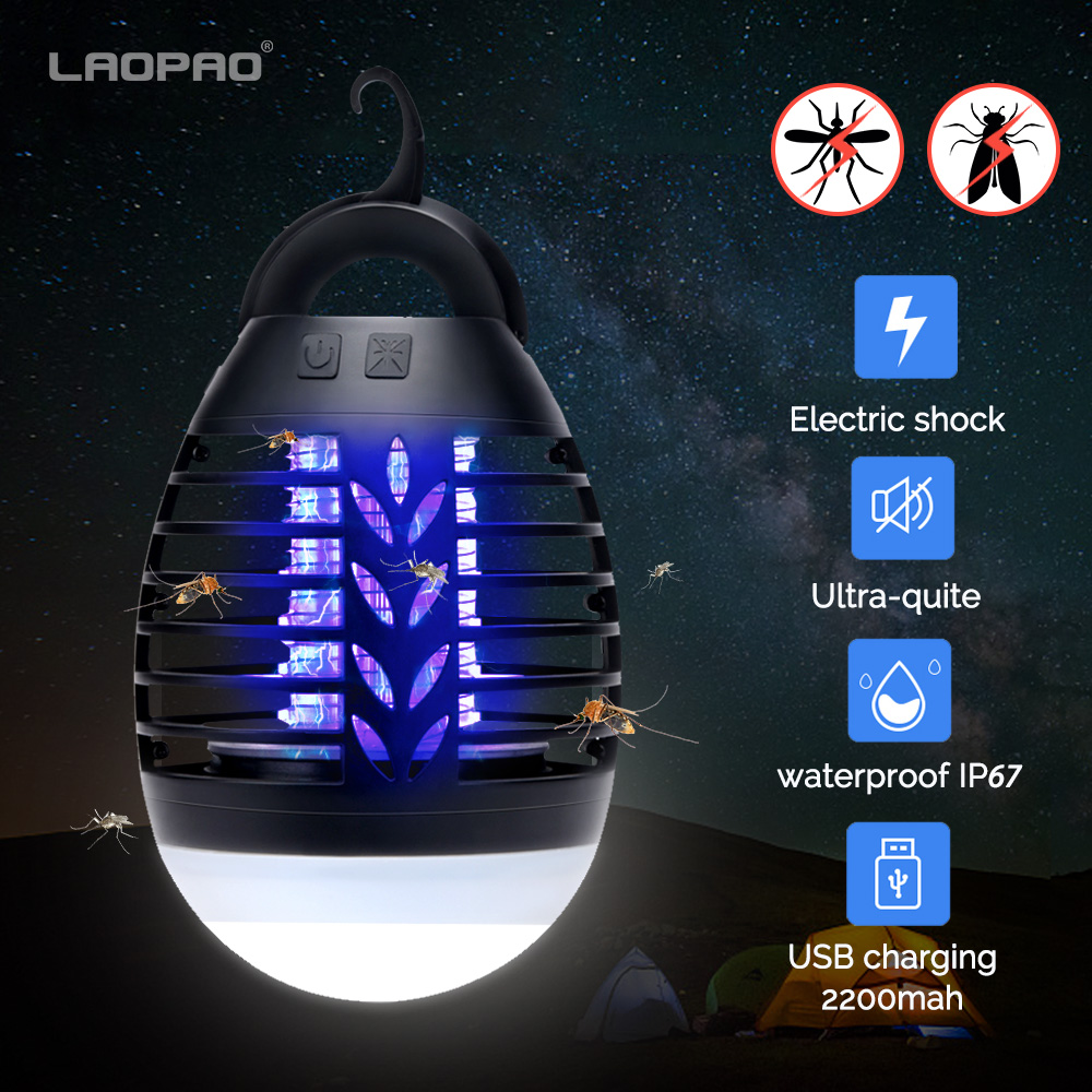 5W 2200mah Camping Mosquito Killer Lamp Home Outdoor Electric Waterproof Mosquito Killer Trap Lantern USB Charge Anti Mosquito