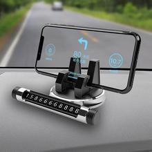 Universal 2-in-1 Car Dashboard Cellphone Holder Temporary Stop Phone Number Parking Plate 2 in 1 cellphone