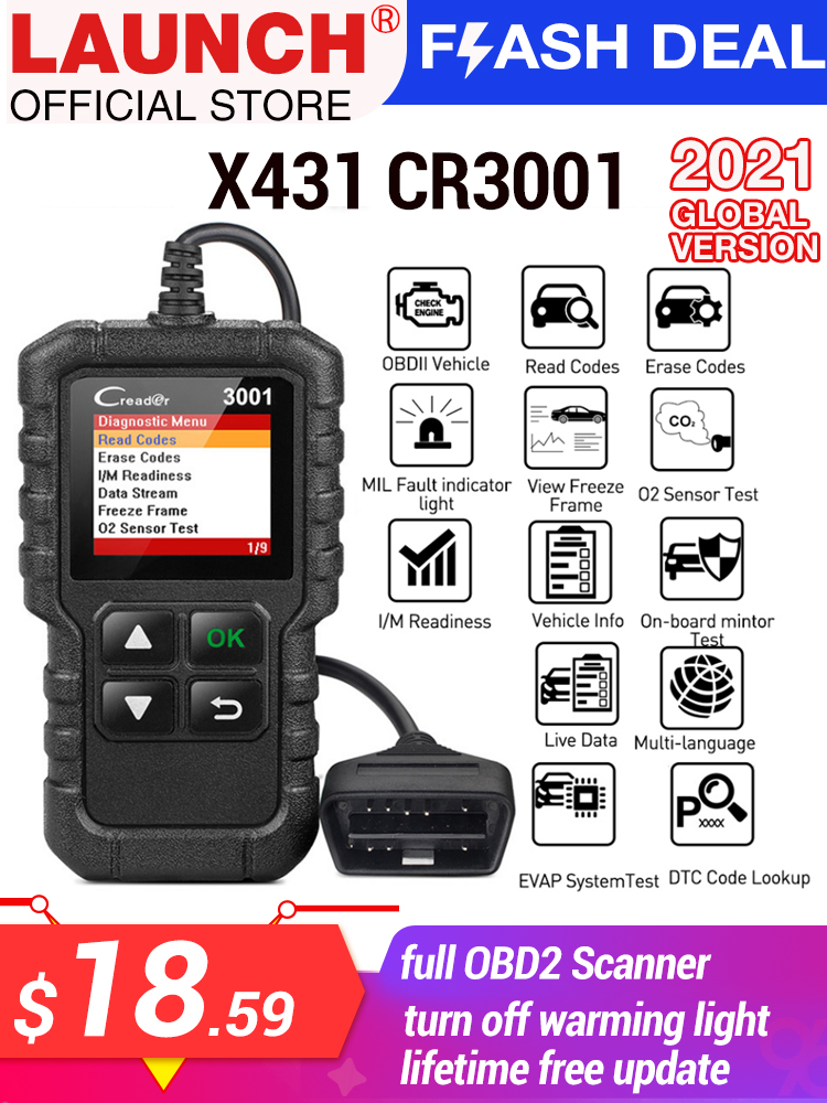 Obd2 Professional Code-Reader Car-Diagnostic-Tools Update Automotive-Scanner Launch X431