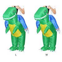 Aufblasbare Tier Dinosaurier Halloween Party Kostüm Dreidimensionale Rideable Dinosaurier Montieren Kleid-in Aufblasbare Hüpfburg aus Spielzeug und Hobbys bei