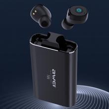 Awei T85 אלחוטי אוזניות עצמאי מפתח ב אוזן ABS TWS ספורט Bluetooth Earbud עבור פעילות גופנית באיכות סאב ארוך המתנה