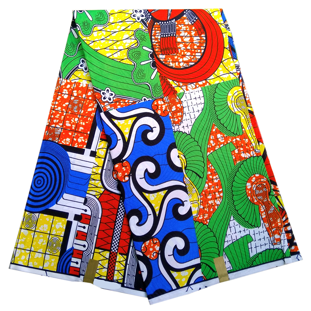 African Fabric 6Yards Wax Print Fabric African Nigerian Ankara Real Dutch Wax