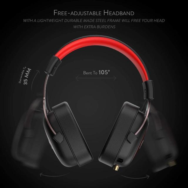 Redragon h510 zeus wired jogo fone de ouvido 7.1 surround som memória espuma almofada da orelha com microfone removível para pc/ps4 e xbox um 3