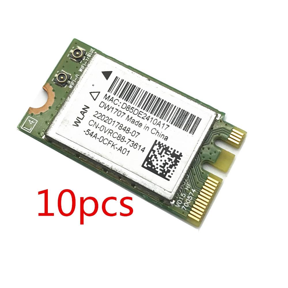 10pcs 300M Wireless Bluetooth V4.0 Dual Band Bluetooth V4 WIFI WLAN Card For Dell DW1707 VRC88 Atheros QCNFA335