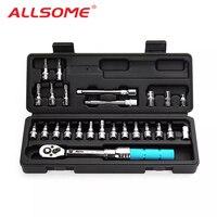 "ALLSOME 1/4"" 2 14Nm Adjustable Torque Wrench Bicycle Repair Tools Kit Set Tool Bike Repair Spanner|Wrench| |  -"