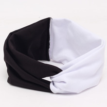 Beautiful and cute elastic contrast color or matching wide-brimmed headband , ladies cross hair band