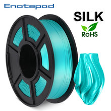 1.75mmPLA SILK Full Color 1kg Enotepad 3D Printer Non-toxic, Environmental Protection,Biodegradable Material 100% no Bubble