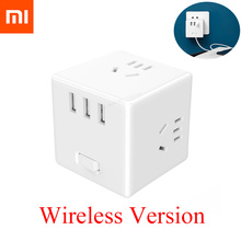 Xiaomi Mijia 2 In 1 USB Charger Power Strip Wireless Adapter 6 Ports Socket Converter Space saving Socket Plug Outlet Magic Cube