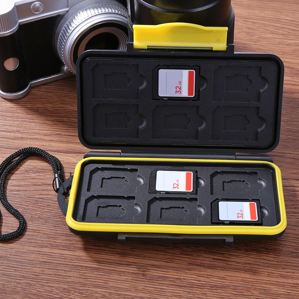 Multi-grid Waterproof Storage Saving Deposit Card Box Memory Cards Case Shock-proof Memory Cards Case