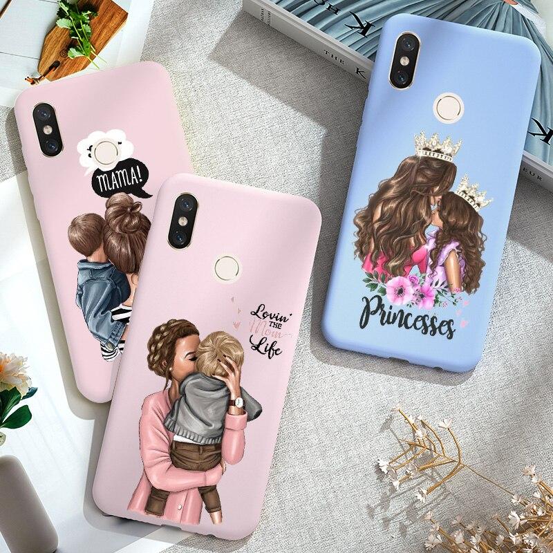 Super Mama Mom For Xiaomi Redmi K20 Note 5 A 5A 5 Plus Mi 9T Pro Candy Color Case Silicone For Xiomi Mi A2 Lite Mi8 A3 8 T Case(China)