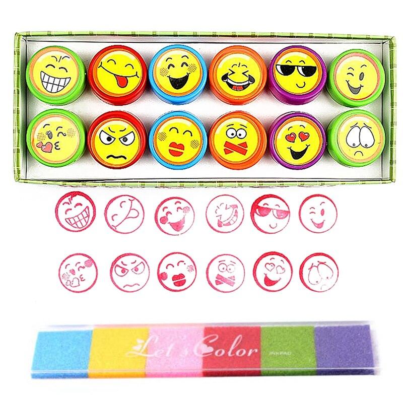 1 Set Round Multicolor Fun Cute Panda Child DIY Scrapbook Kids Stamp Cartoon Rubber Stamps Scrapbooking Reward Toy