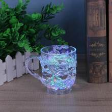 Luminous Beer Cup LED Mug Wine Light Cup Chinese dragon creative Decor present Gift wedding bar celebration props glowing toys(China)