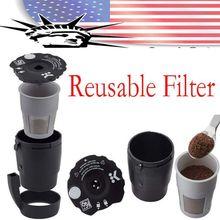 2 упаковки K-Cup универсальный Многоразовый фильтр для молотого кофе, совместимый со всеми K Cup Pod кофеварками(2,0 и 1,0