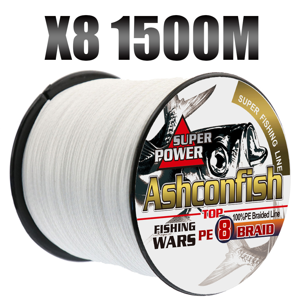 Top pe super 1500M braided lines fishing 8 strands strong big game multifilament cord 6LB-300LB rope 0.10-1.0mm