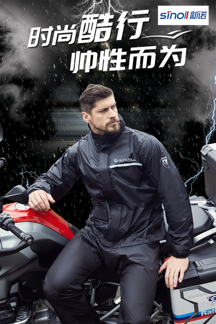 Green Motorcycle Raincoat Rain Pants Suit Thin Riding Split Poncho Adult Men Hiking Anti-Heavy Rain Jacket Casaco Masculino Gift 2