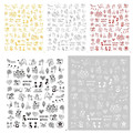 2021 New 3D Nail Sticker Cool English Letter stickers for nail Foil Love Heart Design Nails Accessories Fashion Manicure Sticker