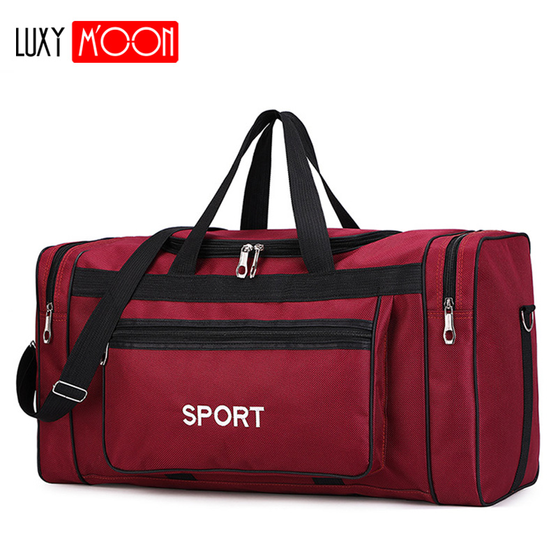 Waterproof Men Sport Travel Bag Women GYM Bags New Red Yoga Fitness Bag Unisex Handbag Large Capacity Nylon Duffle Bag XA165K