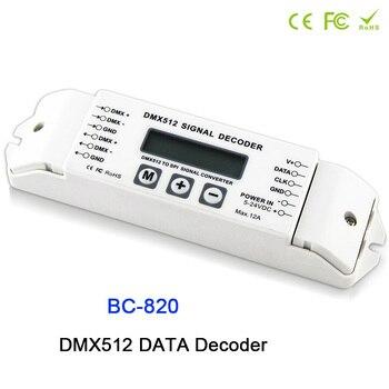BC-820 DMX to SPI Signal Decoder convertor DMX512 Controller for LPD6803 8806 WS2811/ 2801 WS2812B 9813 led pixel light DC5V-24V bc 820 dmx512 to spi signal decoder convertor controller for lpd6803 8806 ws2811 2801 ws2812b 9813 led pixel light dc5v 24v