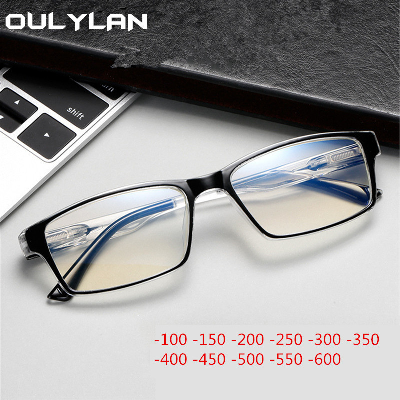 Oulylan Finished Myopia Glasses Women Fashion Myopia Eyeglasses Men Short Sighted Goggles Diopter -1.0 -1.5 -2.0 -3.0 -4.0 To -6