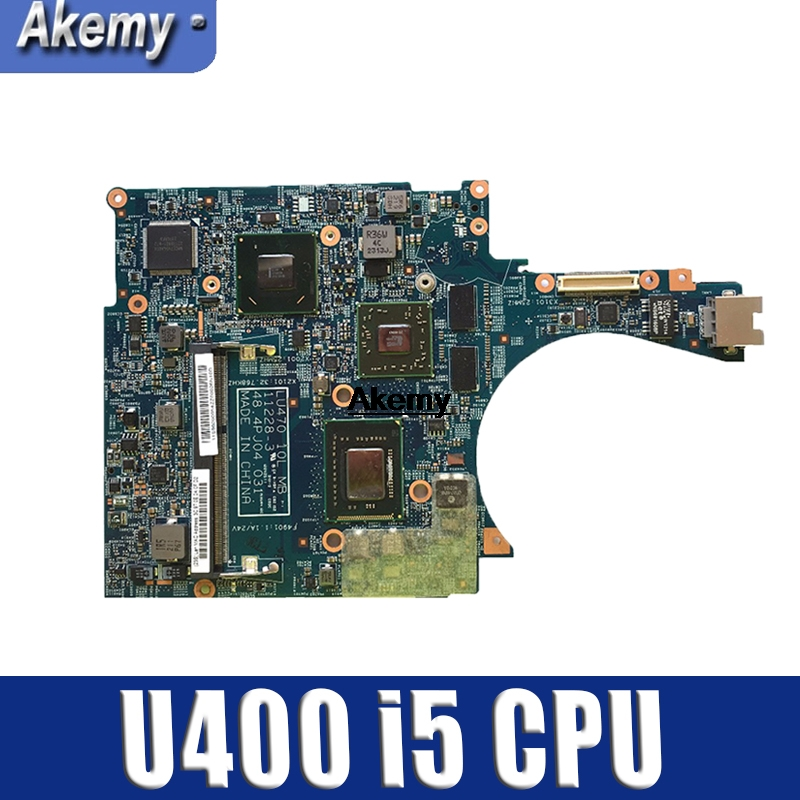 For Lenovo U400 Laptop Motherboard HM65 With SR06Z <font><b>I5</b></font>-<font><b>2450M</b></font> CPU HD 6470M 1GB FRU:90000054 LU470 48.4PJ04.031 100% Tested image