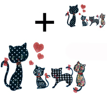 Iron on transfer lovely cat patch iron on transfers for clothes t shirt stickers thermo vinyl transfer on clothing Hoodie badge iron on transfer lovely cat patch iron on transfers for clothes t shirt stickers thermo vinyl transfer on clothing hoodie badge