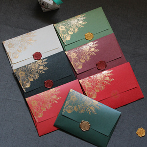 Image 2 - 40pcs/lot New High Grade Pearl Paper Envelopes 125mmX175mm European Bronzing Pattern Envelope Bag