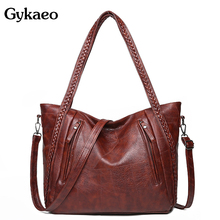 Gykaeo borse di lusso borse da donna Designer Tote Bag Vintage da donna in pelle PU borse a tracolla Messenger di grande capacità Bolso Mujer