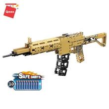Toys-Gun Building-Brick Power-Blocks Military-Model Qman M416 Construction Diy Assault