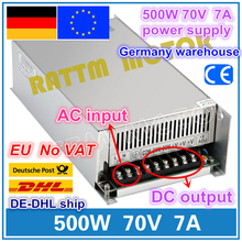 цена на 500W 70V 7A Switch Power Supply! CNC Router Single Output Power Supply 500W 70V Foaming Mill Cut Laser Engraver Plasma