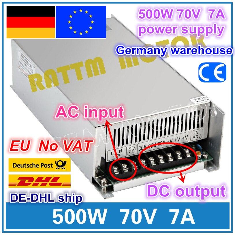 500W 70V 7A interrupteur d'alimentation! CNC routeur unique sortie alimentation 500W 70V moussant moulin coupe Laser graveur Plasma