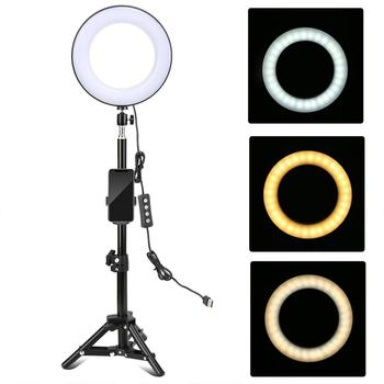 """8"""" LED Selfie Ring adjustable tone and strength"""