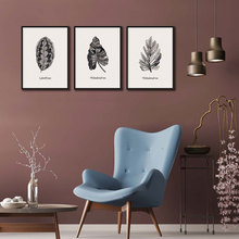 Drop Shipping 3 Piece Black White Nordic Wall Art Plant Leaves Posters and Prints Picture Canvas Painting Living Room Home Decor black white palm tree leaves canvas posters and prints minimalist painting wall art decorative picture nordic style home decor