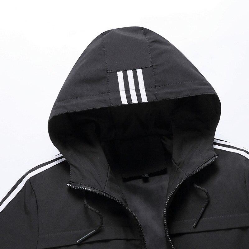 Мужская ветровка большого размера 6XL 7XL 8XL, весенне-осенняя модная повседневная куртка с капюшоном, мужская верхняя одежда