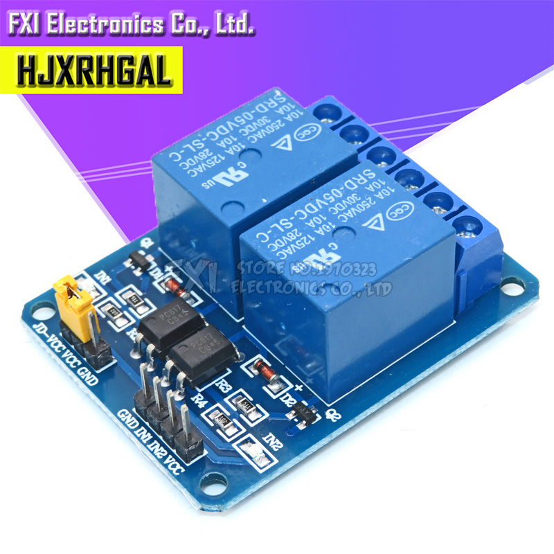 1PCS 5V 2 Channel Relay Module Shield for Arduino ARM PIC AVR DSP Electronic 2-way relay module