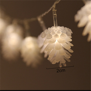 Image 2 - Merry Christmas Decorations for Home Warm White Pine Cone String Light Lamp Navidad 2020 New Year Decor 2021 Xmas Ornament Gift