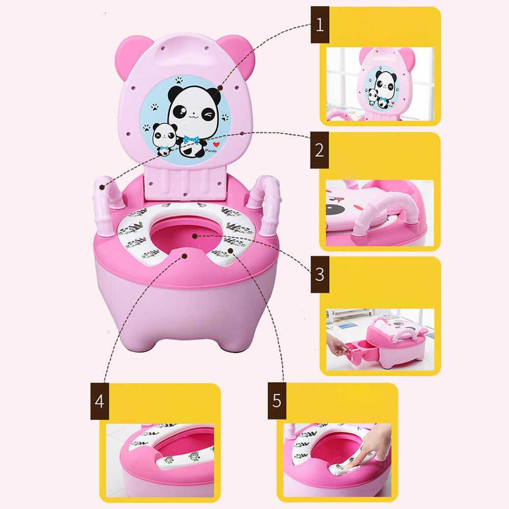 Portátil Panda de Niños de viaje olla lindo orinal de niños niñas baño asiento orinal del coche de bebé ollas bebé asiento de inodoro