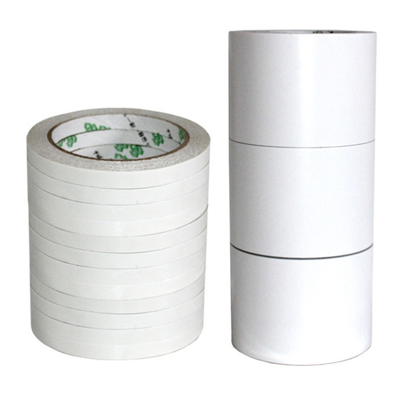 12M Double Sided Adhesive Tape Super Slim Strong Adhesion White Powerful Doubles Faced Adhesive For School Car Office Home TSLM2