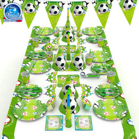 Disposable tableware Paper plate cup Party football set suit football theme children birthday decoration decoration supplies
