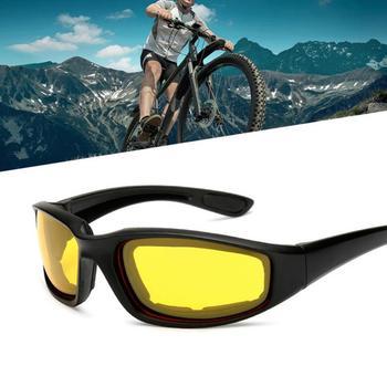 Outdoor Windproof Motocross gogle na motocykl armia okulary okulary rowerowe sportowe okulary motocyklowe okulary Motobike okulary męskie tanie i dobre opinie CAR-partment MULTI Unisex Jeden rozmiar Resin UV400 High nose bridge Outdoor riding and windproof