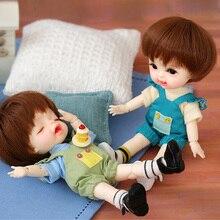 Rerun 또는 데이지 1/8 Dollbom BJD SD 인형 바디 모델 Baby Girls Boys 고품질 장난감 가게 수지 피규어 Lati Body
