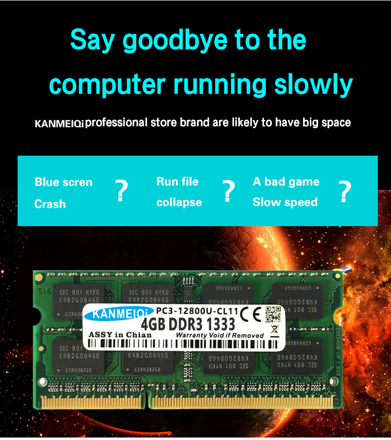 KANMEIQi DDR3 Laptop Memory With 2GB 4GB 8GB And 1333Mhz 1600MHZ 1866MHZ 8