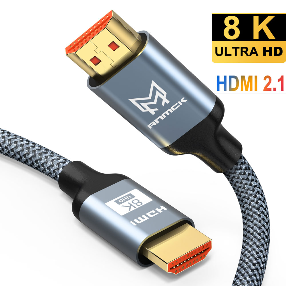 Cable HDMI 2.1 8K Wire Anmck 8K@60hz 4K@120hz HDMI to HDMI Support ARC 3D HDR Ultra HD for Splitter Switch PS4 TV Box Projector