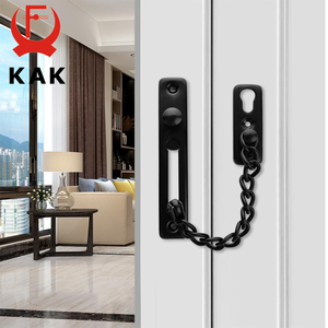 Image 2 - KAK 304 Stainless Steel Security Door Chain Lock Anti theft Door Chain Door Latch Nail Free Glue Thicken Door Lock Hardware