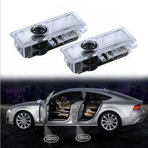 JURUS 2 x светодиодный Автомобильный Дверной логотип Световой Лазерный проектор эмблема автомобильный бренд Shadow Добро пожаловать СВЕТОДИОДНЫ...