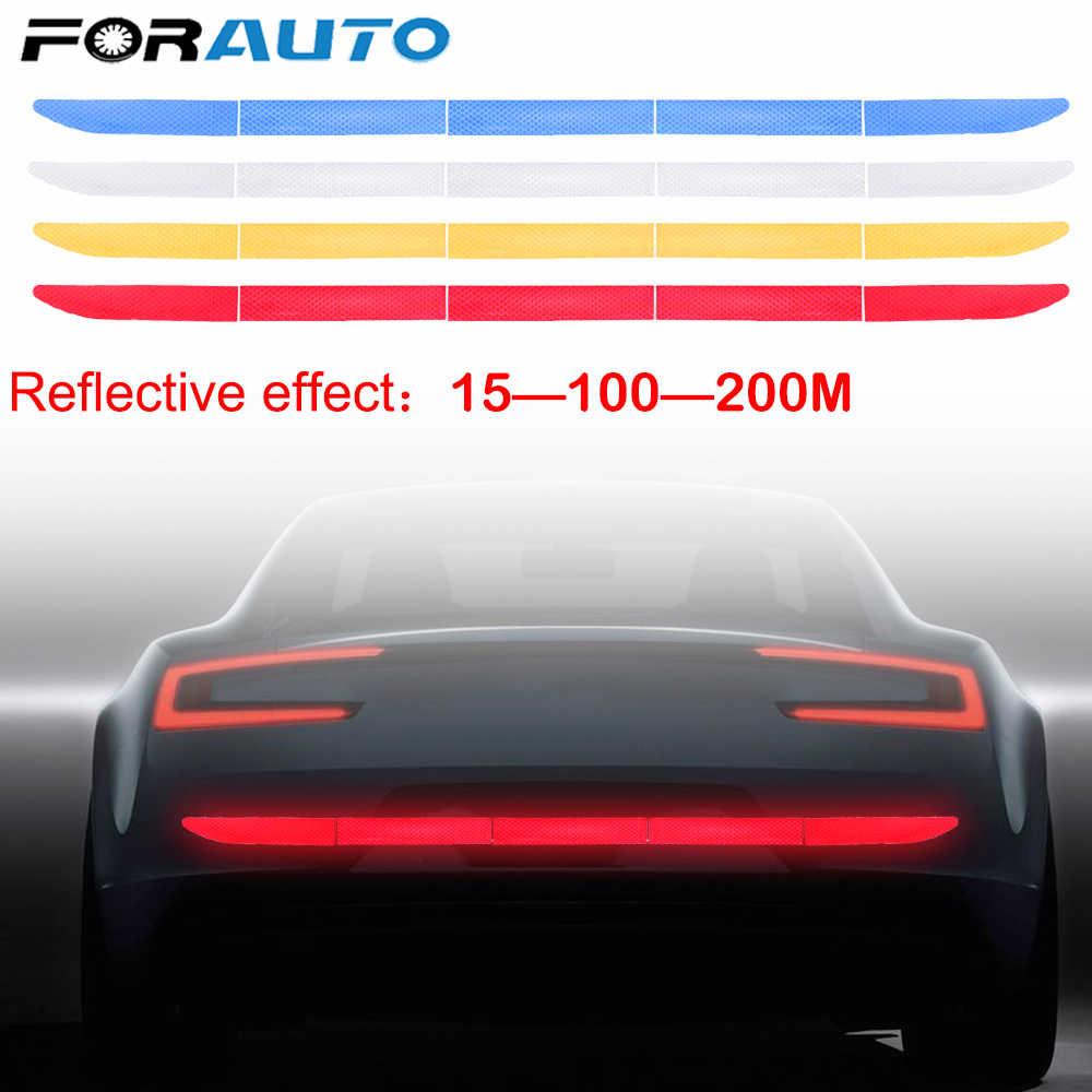 FORAUTO-COM 4 צבעים רכב רעיוני מדבקת Trunk אזהרת מדבקת רצועת ננו קלטת רצועת אוטומטי קישוטי עבור נהיגה בטיחות