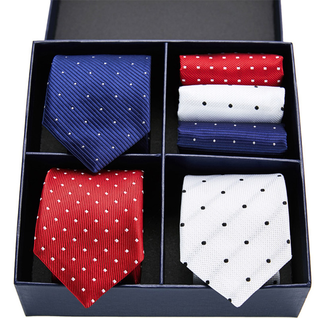 Floral Necktie & Handkerchief Sets 1