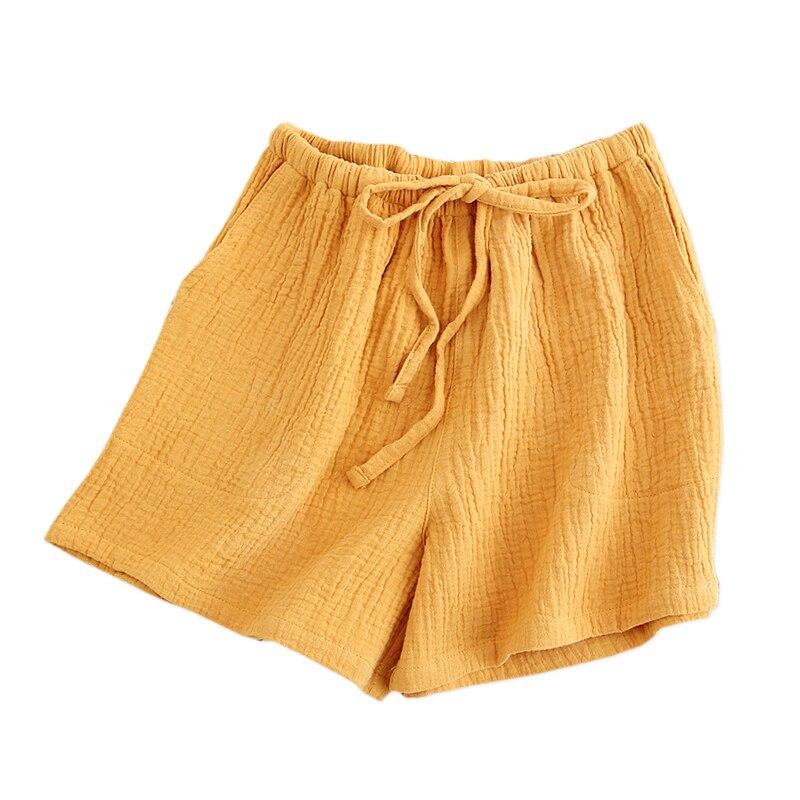2020 Summer sleep bottoms women fresh 100% cotton crepe home shorts pajamas pants fashion casual shorts women Plus size|Sleep Bottoms|   - AliExpress